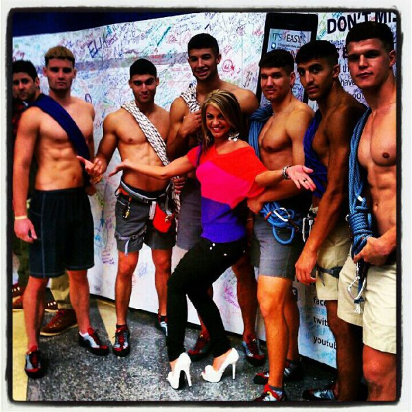With male models