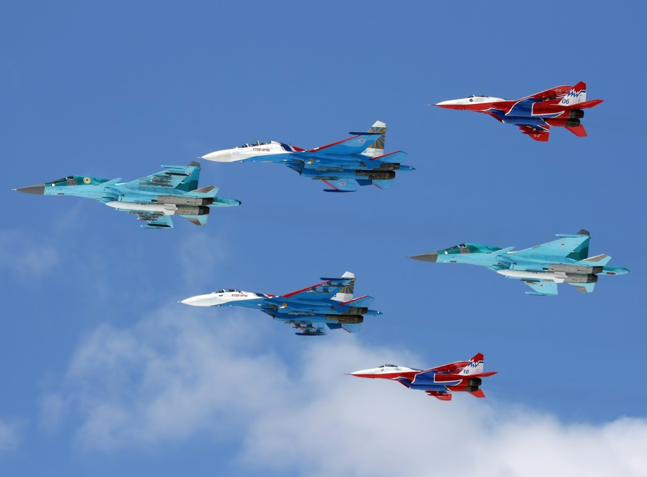 Multiple Sukhoi Su-34