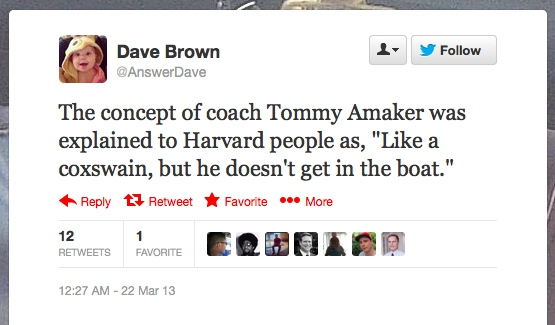 Concept of Coach Tommy Amaker