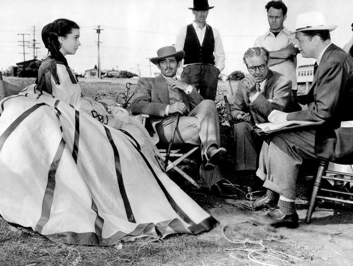 Vivien LEigh & Clarke Gable - Gone with the Wind set