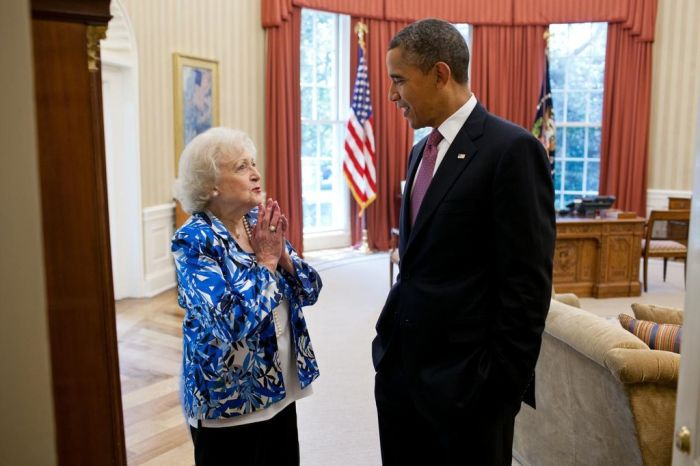 Betty White & Obama