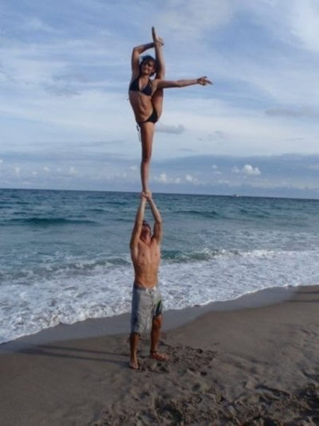 Cheerleading At The Beach