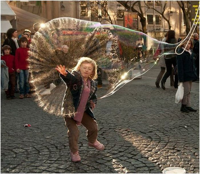 Popping A Giant Bubble