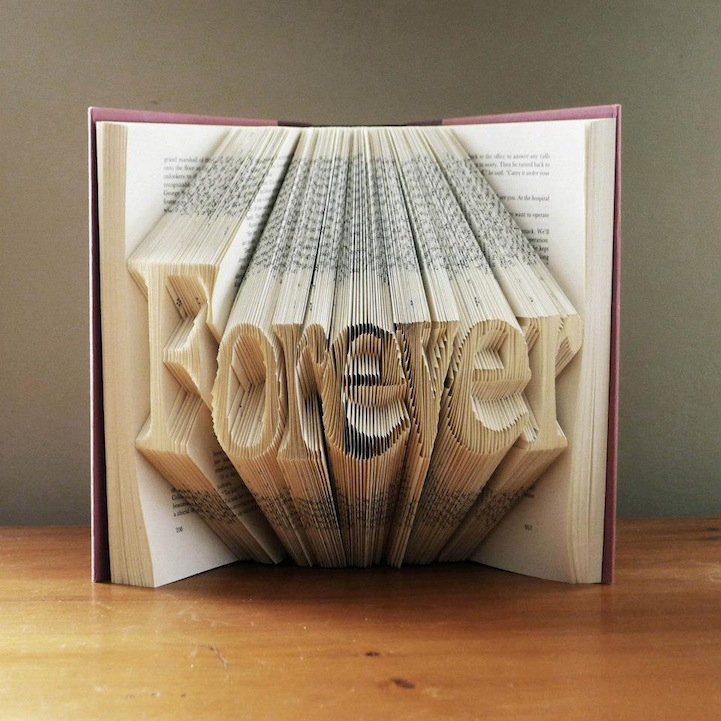 Forever - Book Sulpture