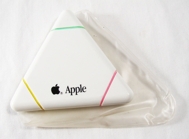 '90s Apple Computer Logo 3-Color Triangle Neon Marker, $39.99