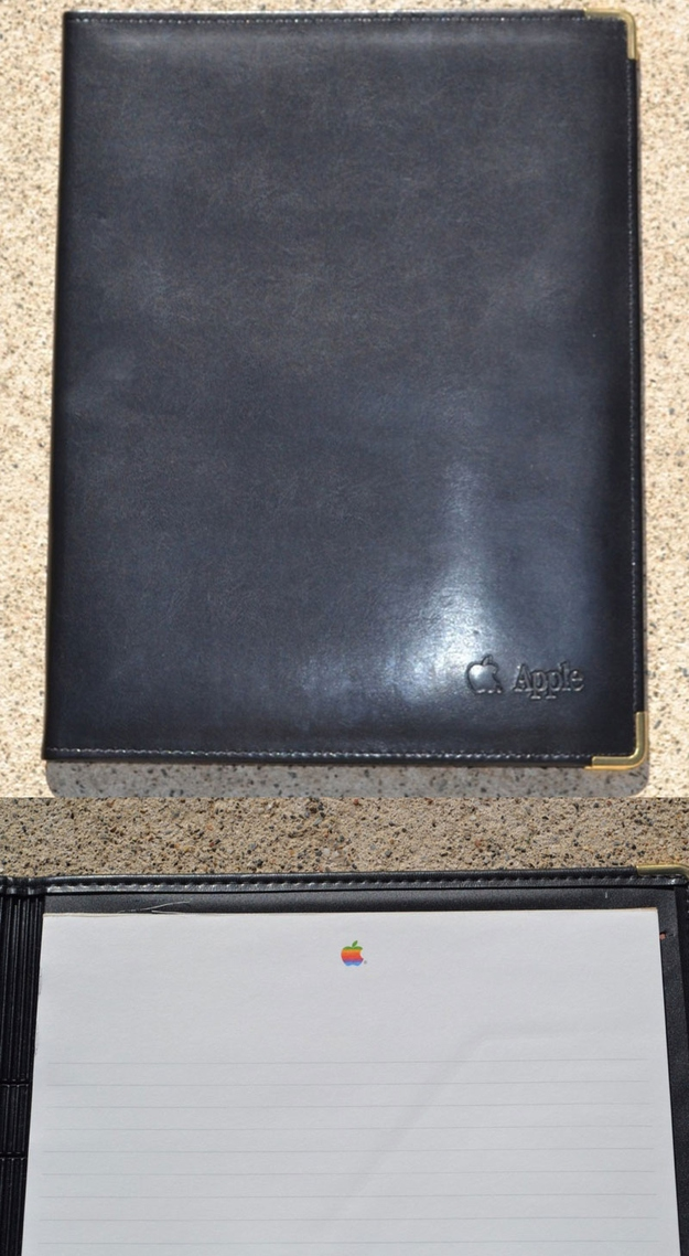 Early '90s Faux Leather Portfolio From Apple Executive Briefing Center, $49.95