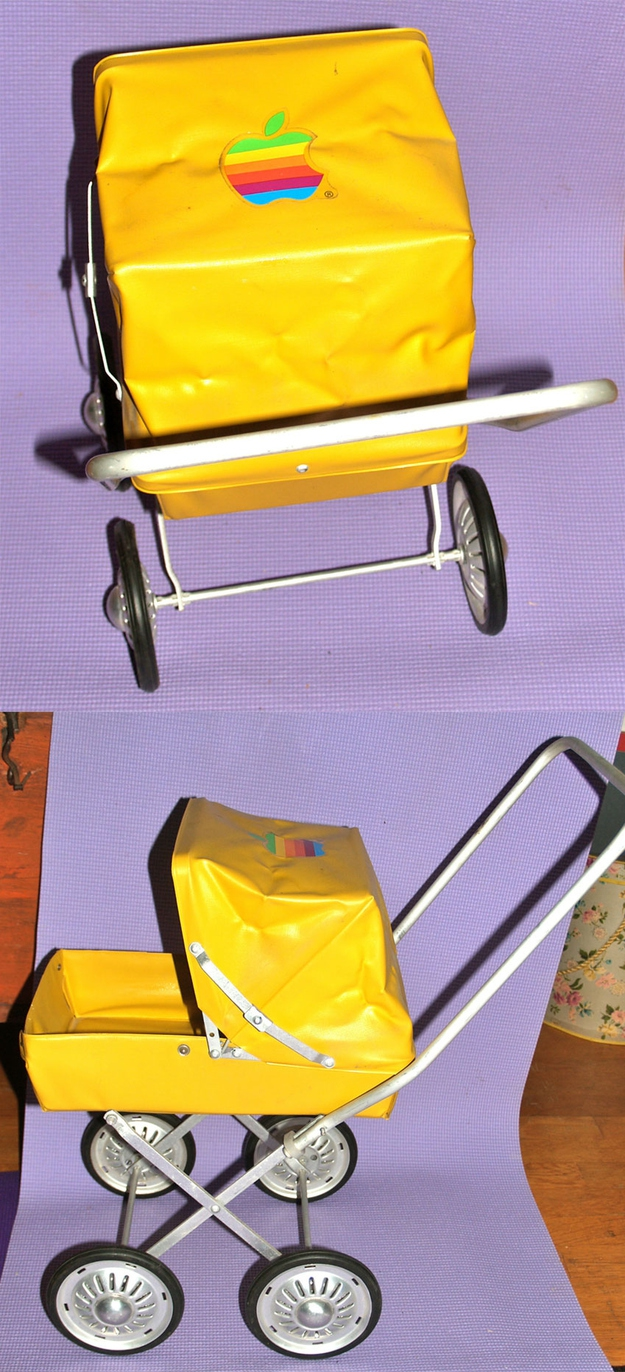 '80s Toy Baby Buggy With Apple Logo, $95.00
