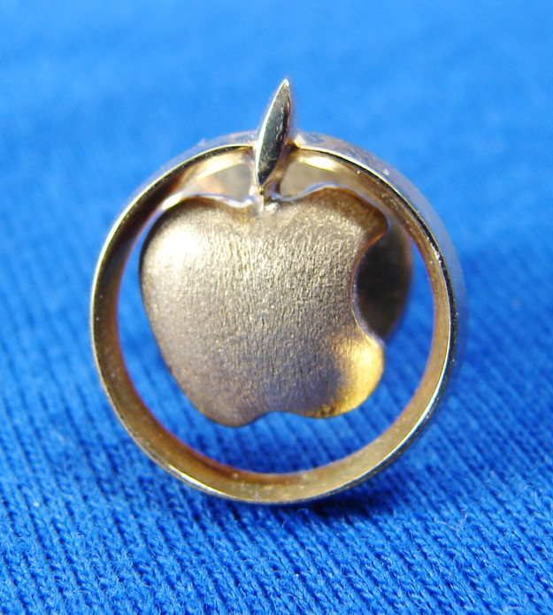 "Rare '80s 18k Apple Computer ""Golden Apple Club"" Pin, $1,049.99"