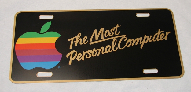 "Vintage '80s Apple Computer ""Most Personal Computer"" License Plate, $149.99"