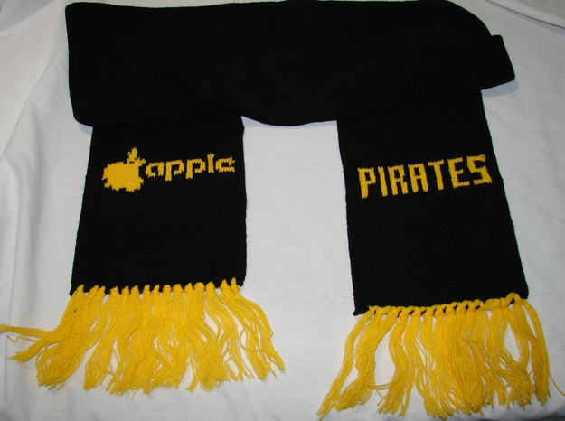 Early '80s Apple Computer Pittsburgh Pirates Scarf, $129.99