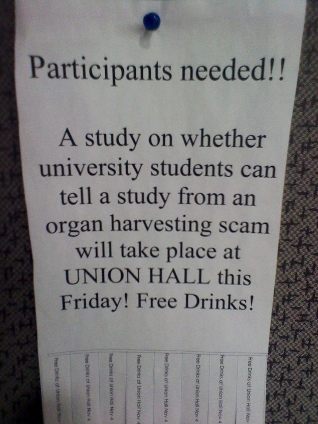 1. Free drinks?! Who gives away drinks?