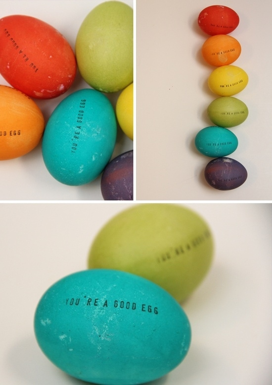 1. Stamped Easter Eggs