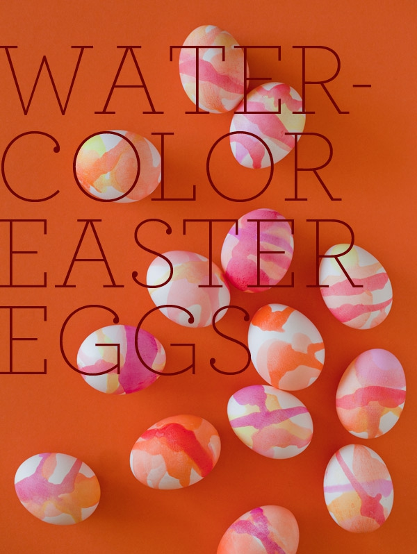 13. Watercolor Easter Eggs