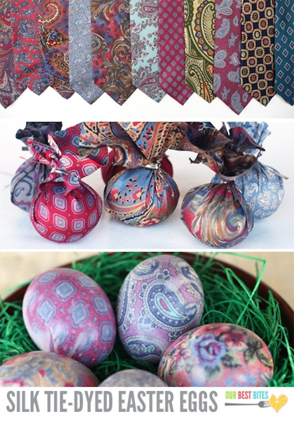 8. Silk-Tie-Dyed Easter Eggs