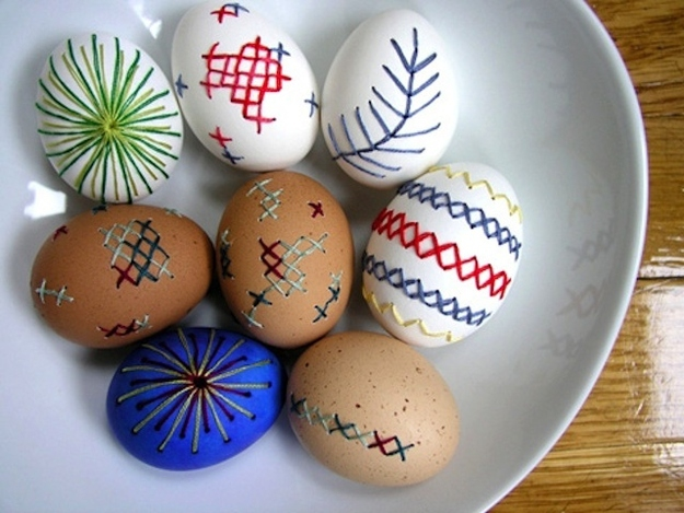 19. Embroidered Easter Eggs