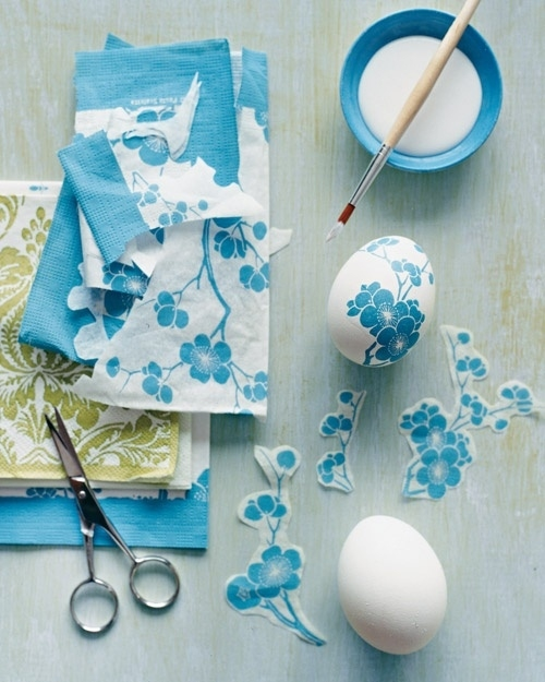 3. Paper Napkin Decoupage Easter Eggs