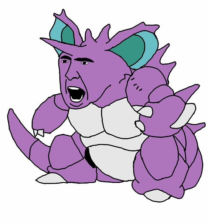 Nicholas Cage's Face On Pokemon