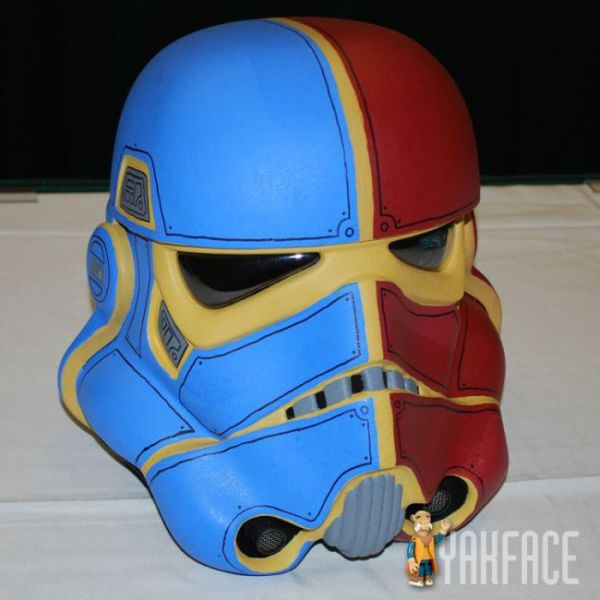 red blue storm trooper helmet