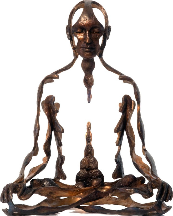 Negative Space Bronze Sculpture
