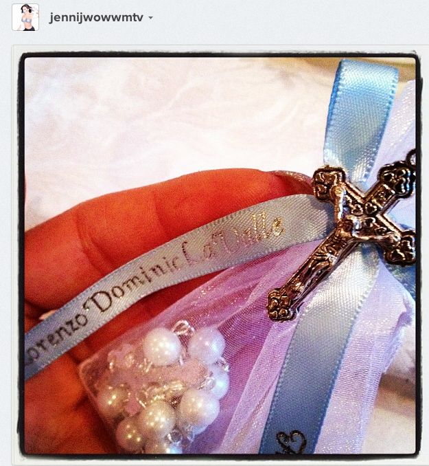 JWoww Instagrammed a Photo from Baby Lorenzo's Baptism Service