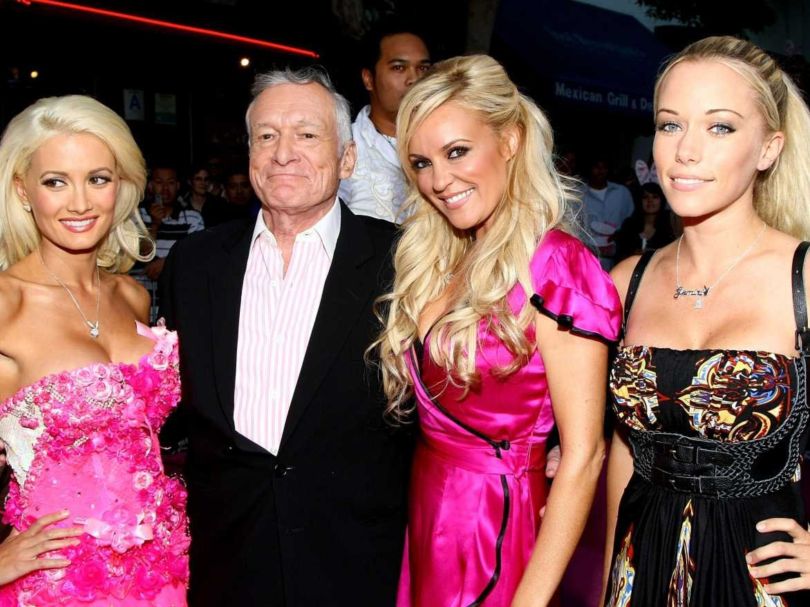 Hugh Hefner with The Girls Next Door