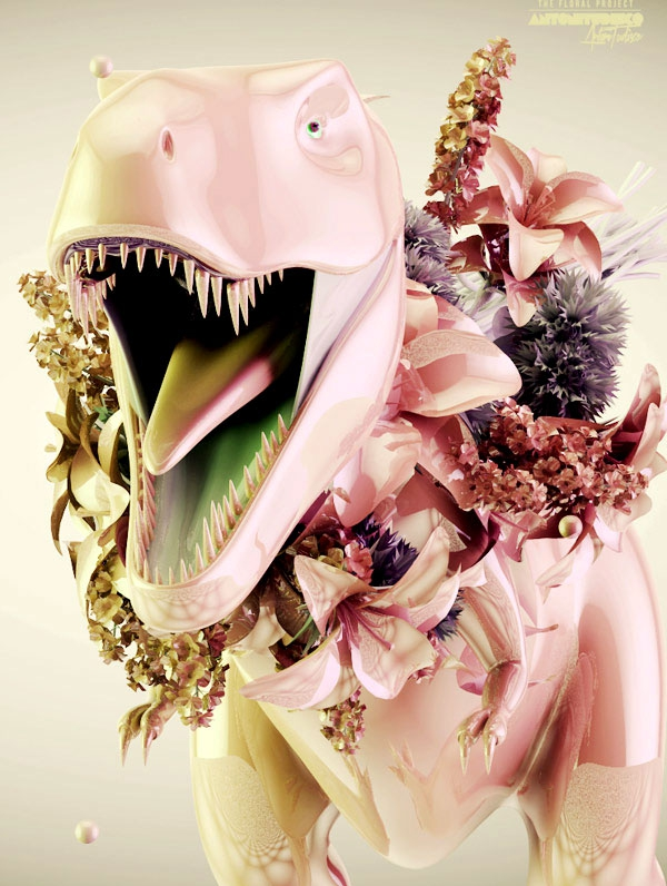 Dinosaur Floral Project