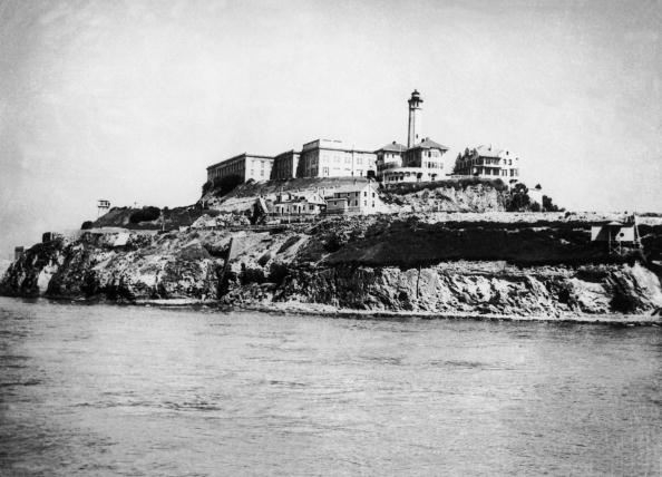 Alcatraz Penitentiary located in the San Francisco Bay