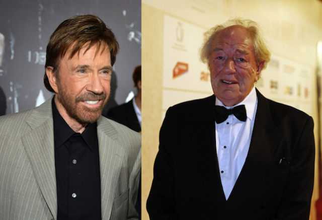 Chuck Norris and Michael Gambon are both 73