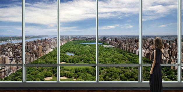 New York's swanky One57 tower Apartments Artist Rendering
