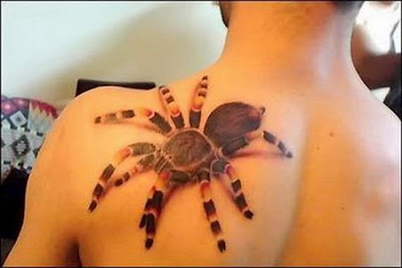 Giant 3D Spider Tattoo
