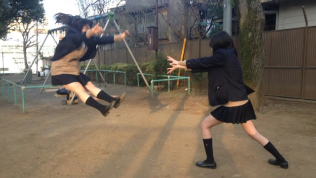 Japanese Girls Acting out Fake Dragon Ball
