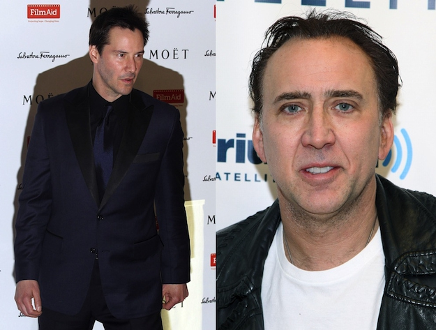 Keanu Reeves and Nicolas Cage are both 48.