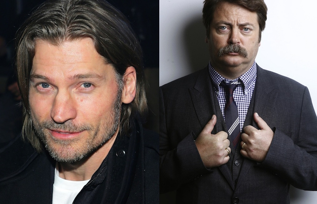 Nikolaj Coster-Waldau and Nick Offerman are both 42.