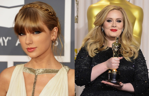 Taylor Swift is 23. Adele is 24.