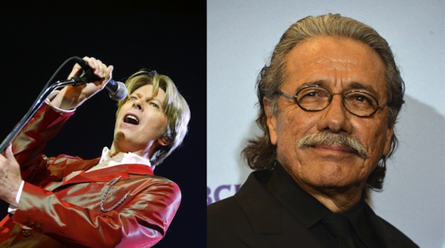 David Bowie and Edward James Olmos are both 66.