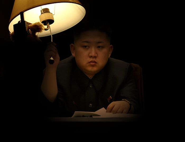 Kim Jong-Un Turning On A Lamp