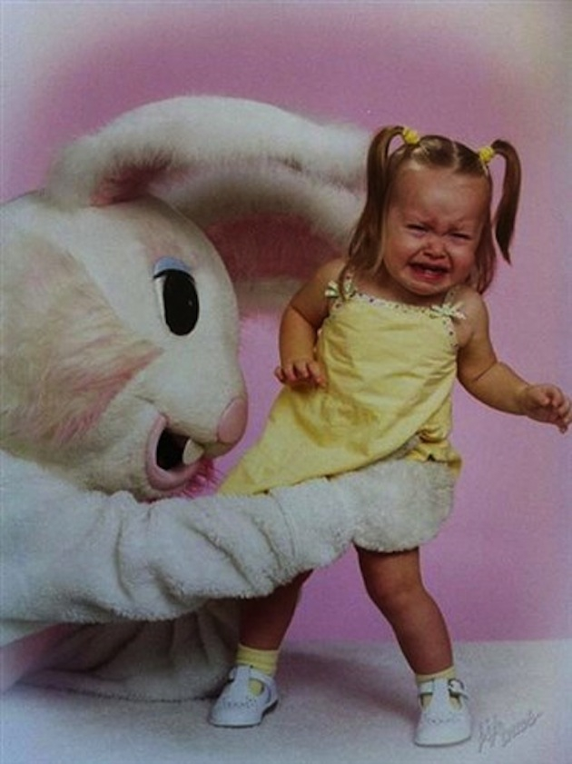 East Bunny Scaring A Child