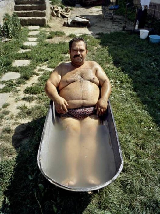 Gypsy Man In Bathtub