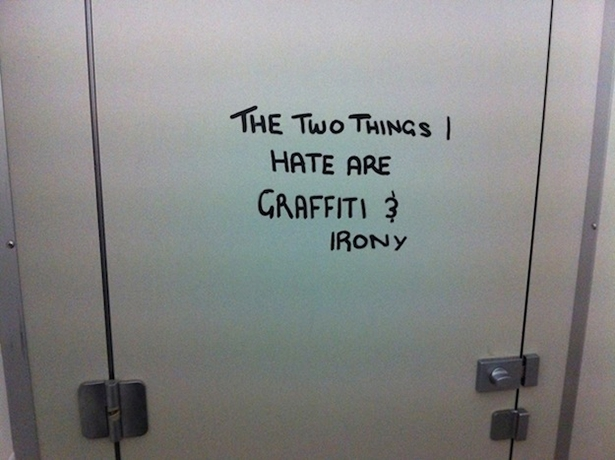 Irony in Graffiti