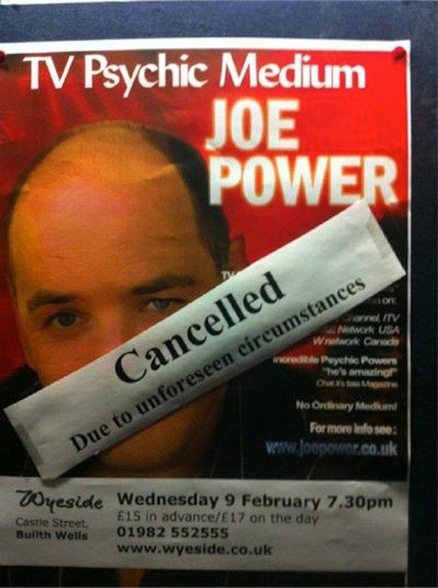 Physic Show Cancelled