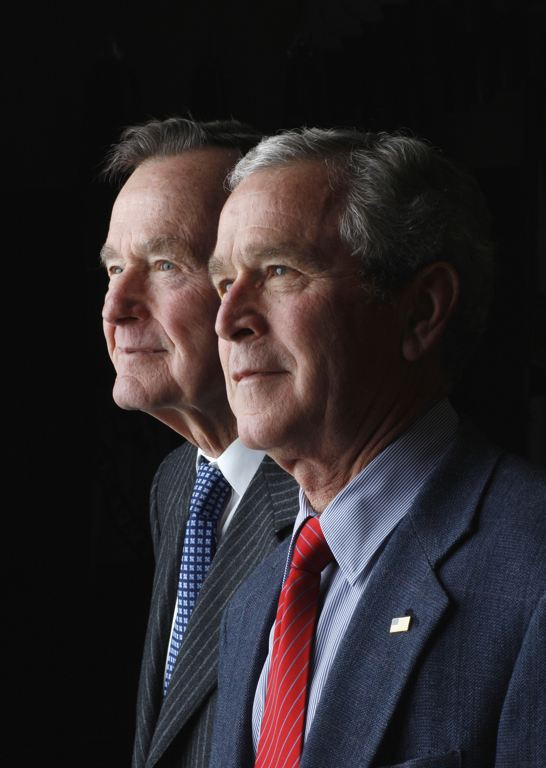 George W. Bush and His Father George H.W. Bush