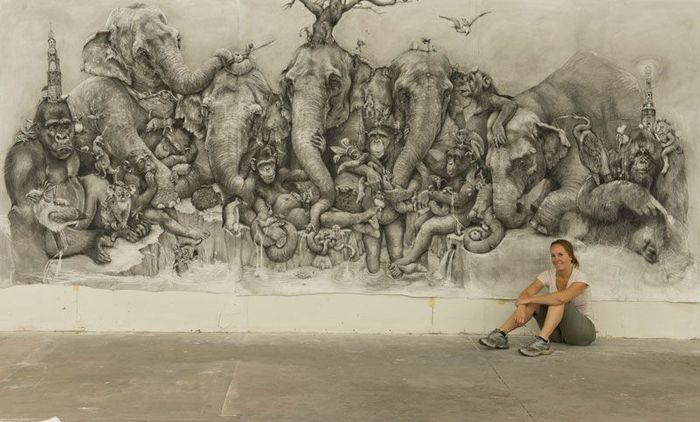 Enormous Pencil Drawing