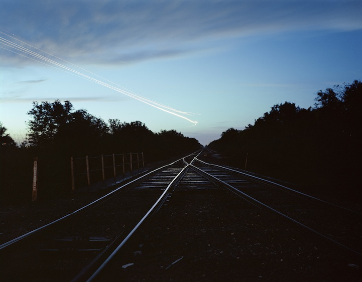 Flight Pattern Over Railroad Tracks