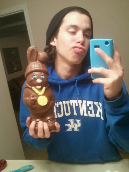 The Easter candy selfie.