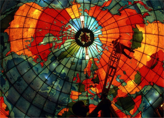 The stained glass mapparium