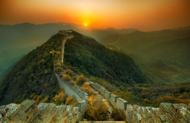 Nature overtakes the Great Wall