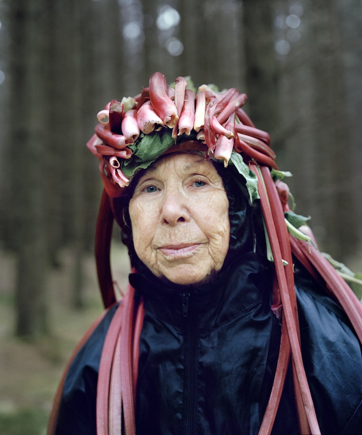 Playful Seniors Wear Organic Materials to Personify Nature