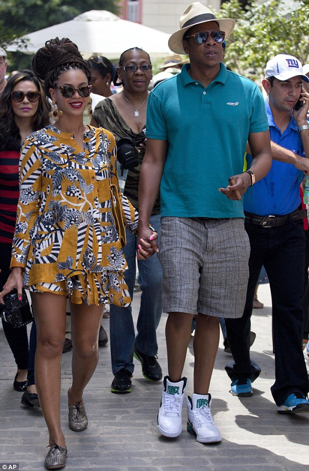 Beyonce and Jay-Z stepped out in Havana, Cuba, on Thursday as they dined out for lunch to celebrate their fifth wedding