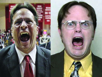 Tom Crean and Rainn Wilson