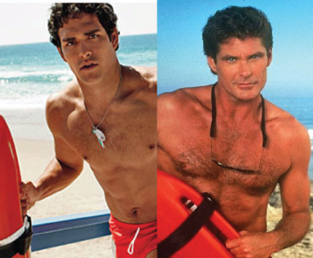 Mark Sanchez and Mitch Buchannon